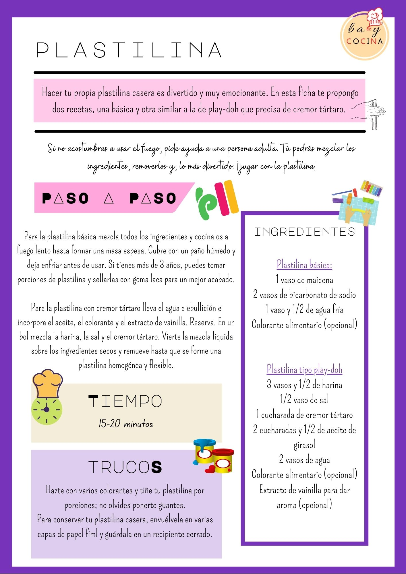 Plastilina para hacer con niños