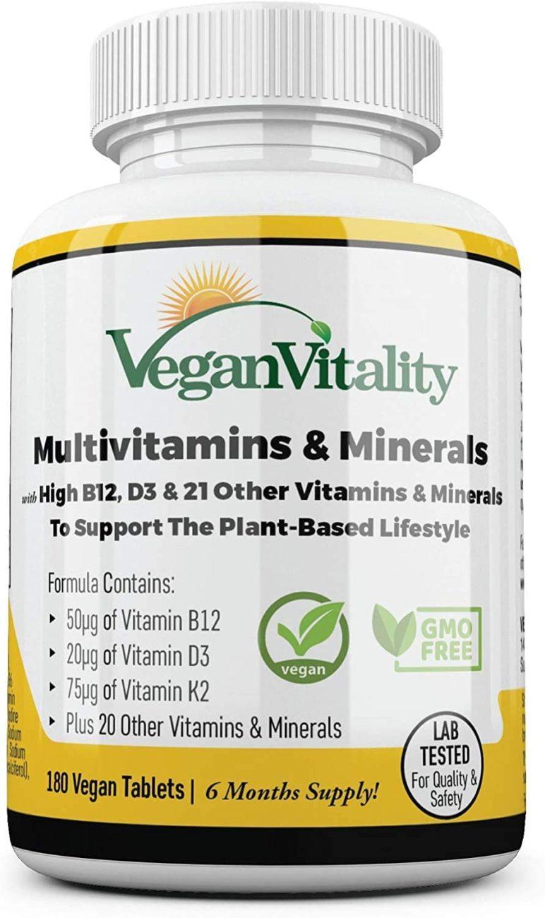 vegan vitality multivitaminas