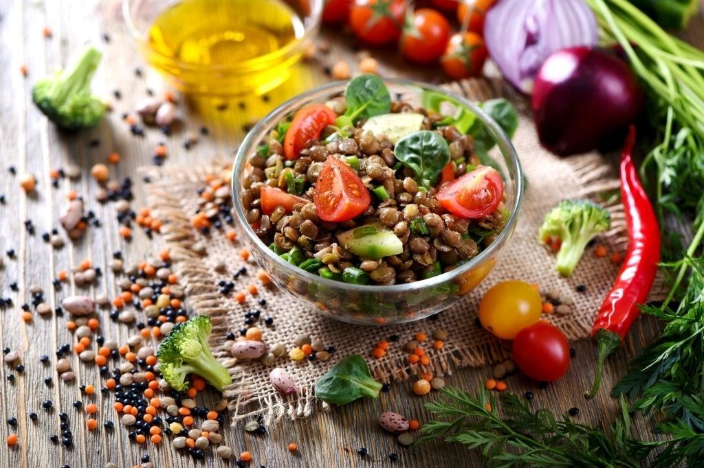 Ensalada de Lentejas Vegana Ⓥ ¡Muy Fácil!