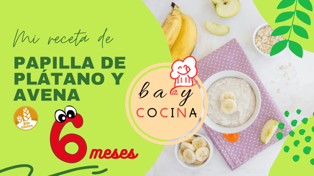 Papilla de avena y plátano para bebés