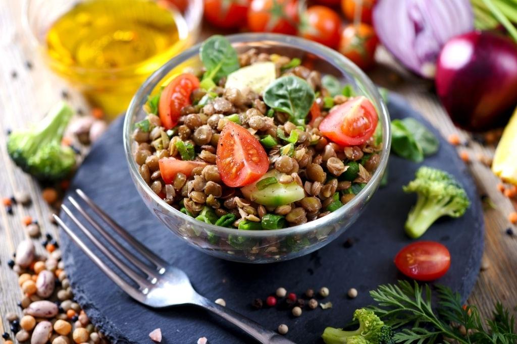 Receta ensalada de lentejas vegana