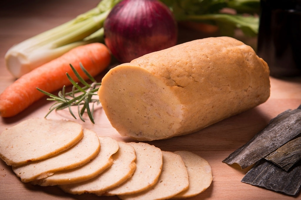 Sustituto de carne para veganos: seitán