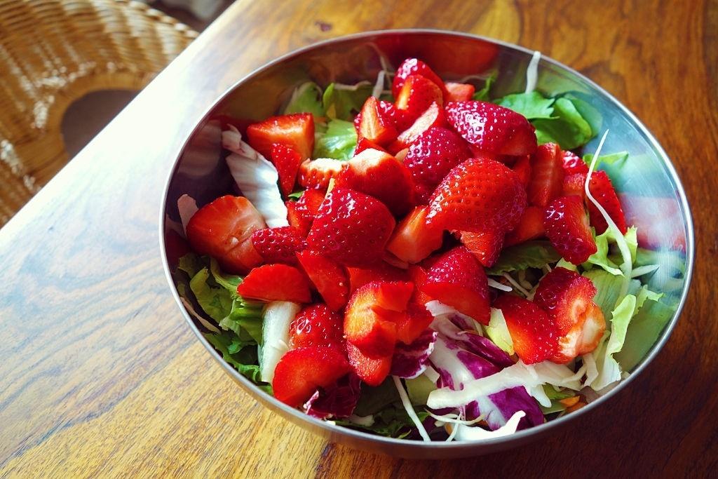 Ensalada vegana de fruta