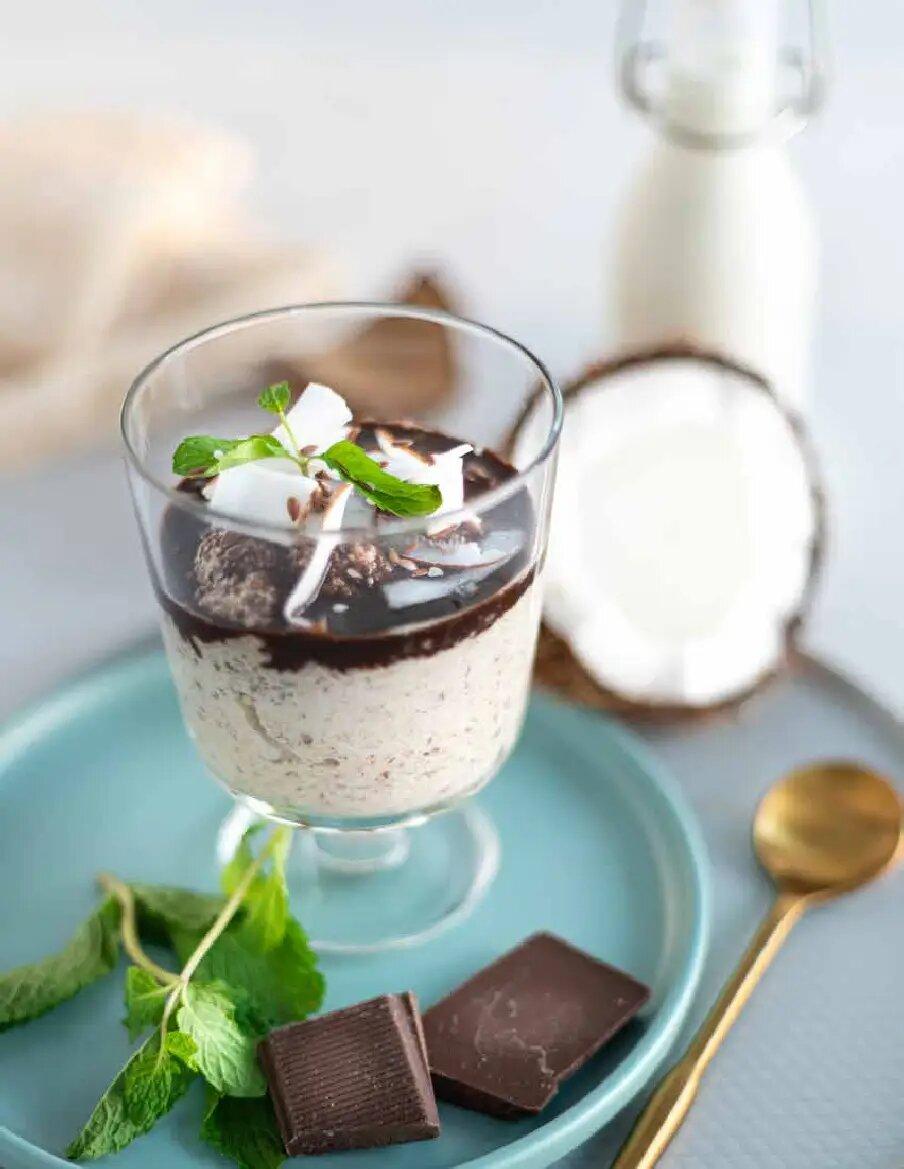 Gachas de coco y chocolate