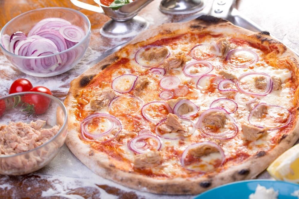 Pizza de atún para niños