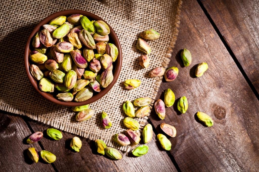 Alimentos ricos en potasio: pistachos