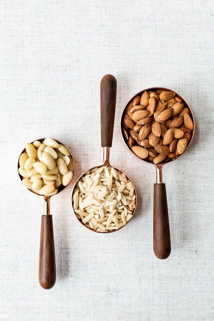 Tipos de almendras para hacer harina de almendras