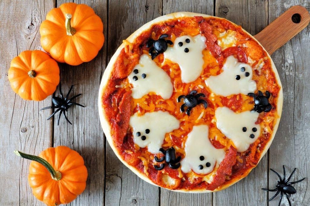 Pizza Fantasmas Halloween