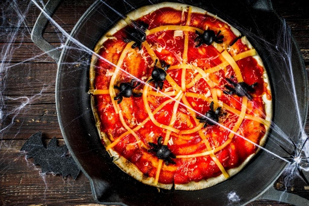 Pizza telaraña Halloween