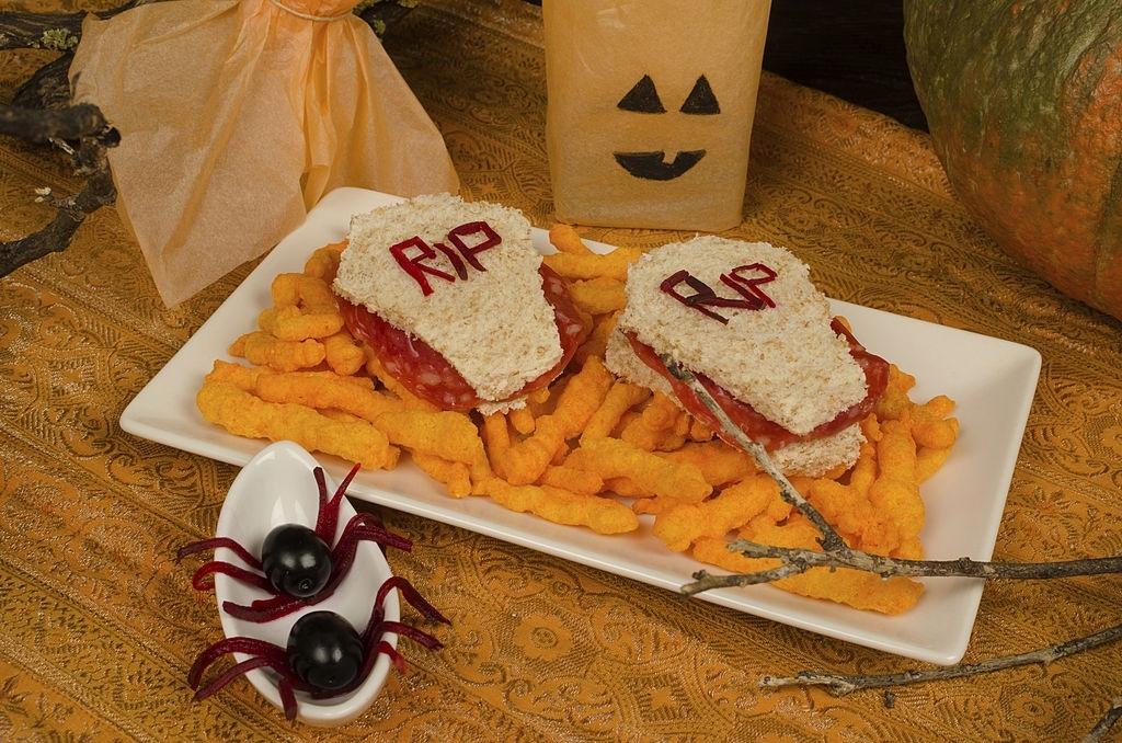 Sandwiches ataud para Halloween