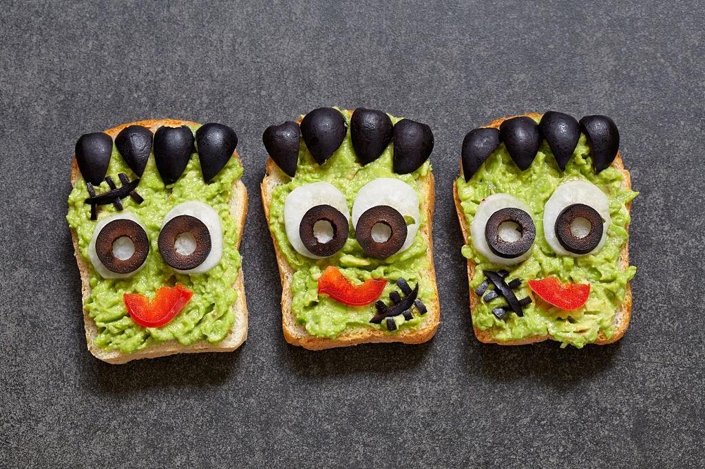 Sandwiches monstruo verde