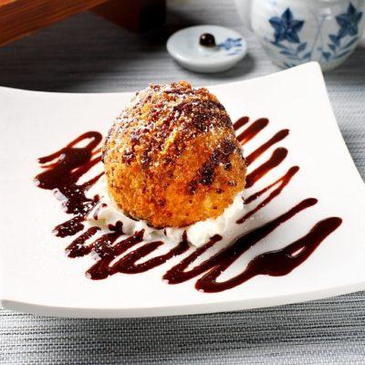 helado frito chino